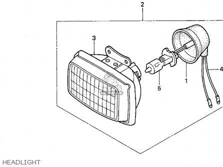 Honda Xr600r 1993 (p) Usa parts list partsmanual partsfiche
