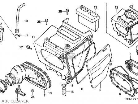 Honda Xr600r 1994 (r) European Direct Sales parts list