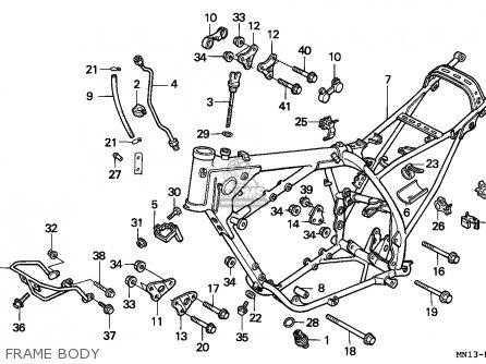 Honda XR600R 1994 (R) EUROPEAN DIRECT SALES parts lists