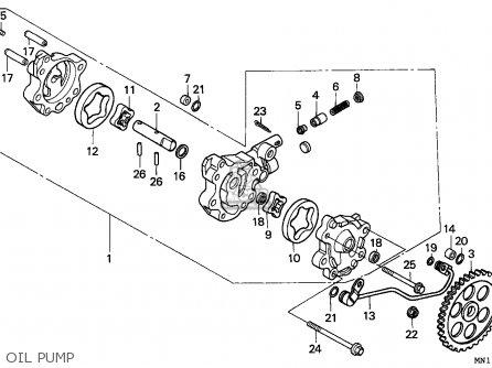 Honda Xr600r 1994 (r) General Export / Kph Csw parts list