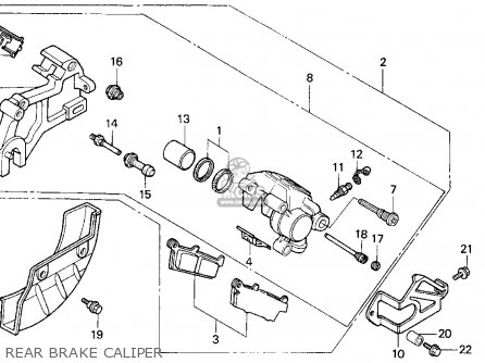 Honda XR600R 1994 (R) USA parts lists and schematics
