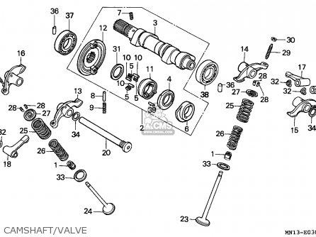 Honda Xr600r 1995 (s) Canada parts list partsmanual partsfiche