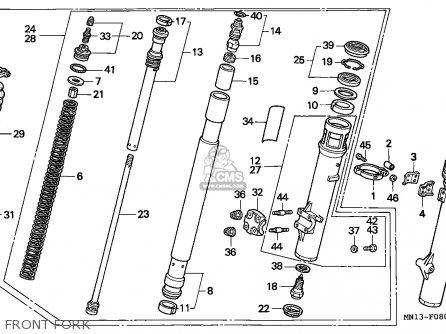 Honda Xr600r 1996 (t) Belgium parts list partsmanual