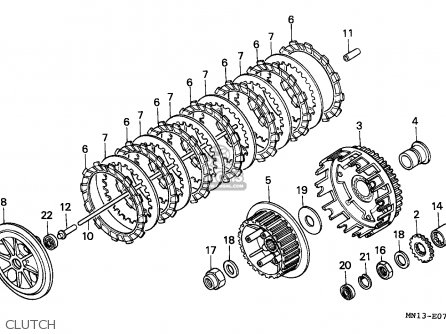 Honda XR600R 1996 (T) EUROPEAN DIRECT SALES parts lists