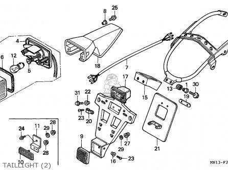 Honda XR600R 1996 (T) GENERAL EXPORT / KPH CSW parts lists