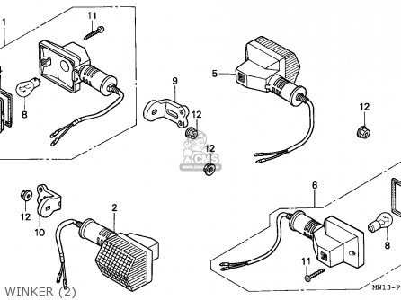 Honda Xr600r 1997 Australia parts list partsmanual partsfiche
