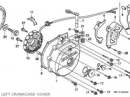 Honda Xr600r 1997 (v) Australia parts list partsmanual