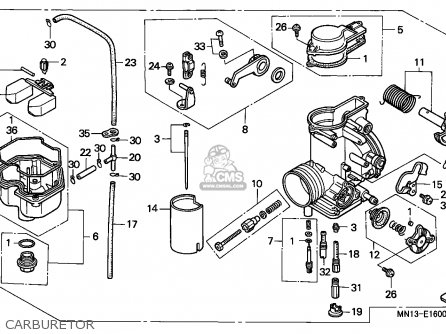 Honda Xr600r 1997 (v) Canada parts list partsmanual partsfiche