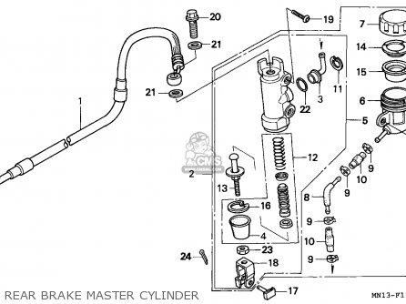 Honda Xr600r 1997 (v) Canada parts list partsmanual partsfiche