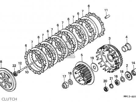 Honda Xr600r 1998 (w) Belgium / Mk Mm parts list