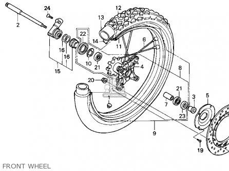 Honda Xr650l 1993 (p) Usa parts list partsmanual partsfiche