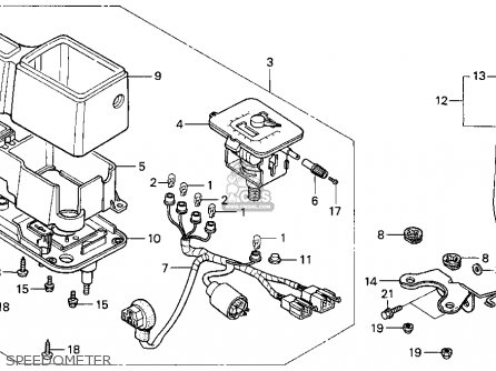 Honda Xr650l 1993 (p) Usa parts list partsmanual partsfiche