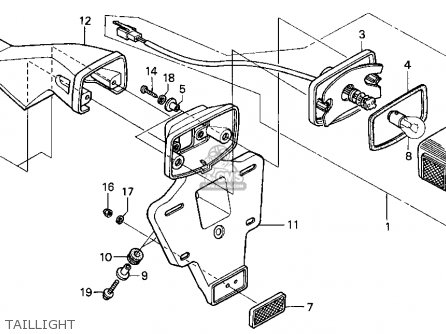 Honda Xr650l 1997 (v) Usa parts list partsmanual partsfiche