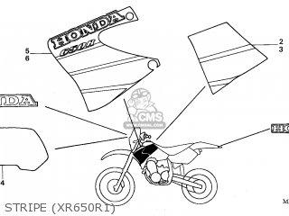 Honda XR650R 2001 (1) AUSTRALIA / CSW parts lists and