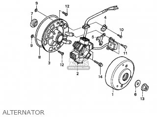 Honda Xr70r 1998 Usa parts list partsmanual partsfiche