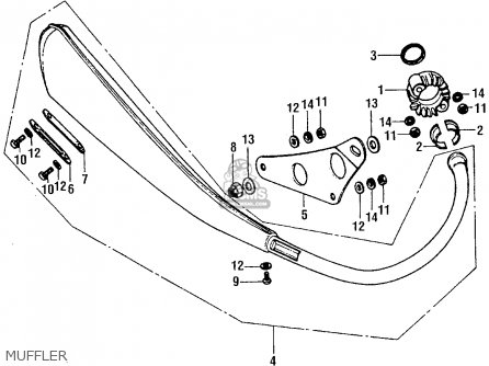 Honda Xr75 1976 Usa parts list partsmanual partsfiche