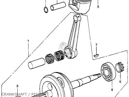 Honda Xr75 K0 1969 Usa parts list partsmanual partsfiche