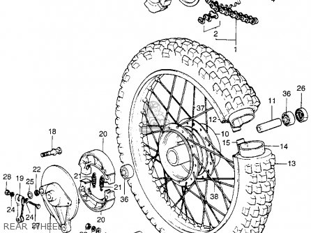 Honda XR75 K0 1969 USA parts lists and schematics