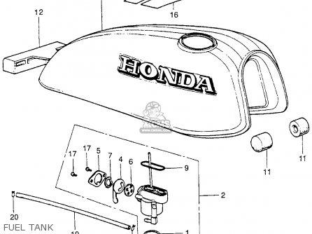 Honda XR75 K0 1973 USA parts lists and schematics