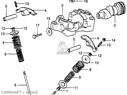 Honda Xr75 K0 Usa parts list partsmanual partsfiche
