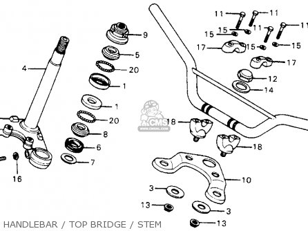 Honda Xr75 K5 1978 Usa parts list partsmanual partsfiche