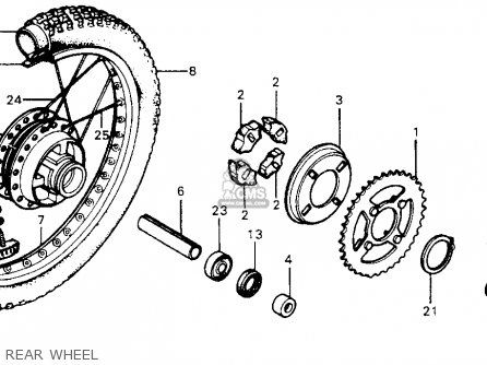 Honda XR75 K5 1978 USA parts lists and schematics