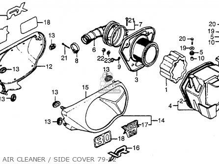 Honda Xr80 1979 Usa parts list partsmanual partsfiche