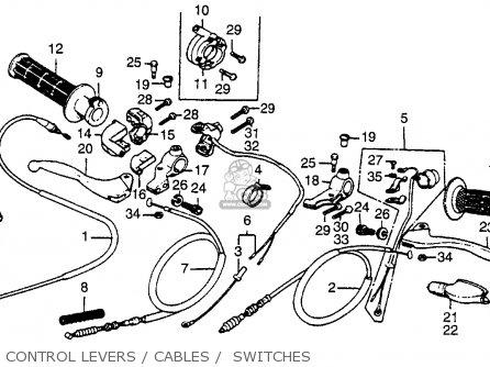 Honda Xr80 1980 (a) Usa parts list partsmanual partsfiche