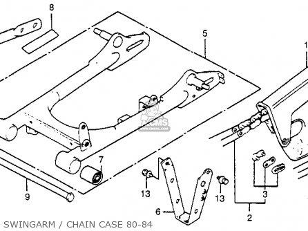 Honda XR80 1980 (A) USA parts lists and schematics