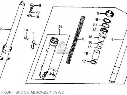 Honda XR80 1981 (B) USA parts lists and schematics