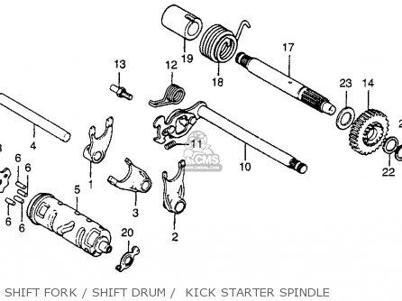 Honda Xr80 1981 (b) Usa parts list partsmanual partsfiche