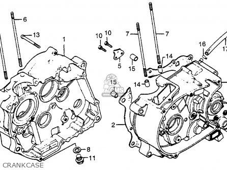 Honda Xr80 1982 Usa parts list partsmanual partsfiche