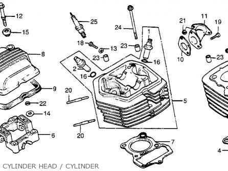 Honda Xr80 1983 (d) Usa parts list partsmanual partsfiche