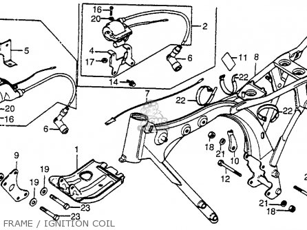 Honda Xr80 1983 Usa parts list partsmanual partsfiche
