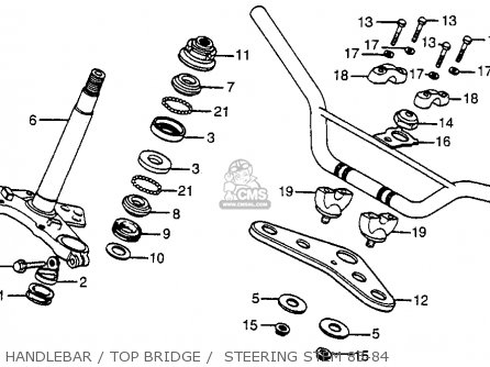 Honda XR80 1984 (E) USA parts lists and schematics