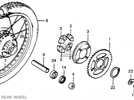 Honda Xr80 1984 Usa parts list partsmanual partsfiche