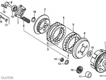 Honda Xr80r 1985 Canada parts list partsmanual partsfiche