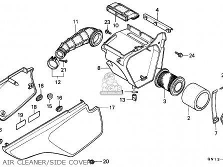 Honda XR80R 1985 (F) CANADA parts lists and schematics
