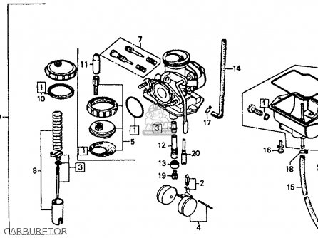 Honda XR80R 1985 (F) USA parts lists and schematics