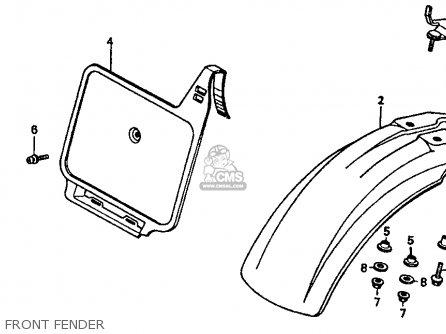 Honda XR80R 1985 (F) USA parts lists and schematics