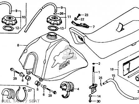 Honda Xr80r 1985 Usa parts list partsmanual partsfiche