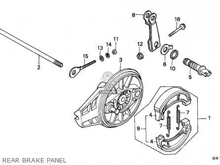 Honda Xr80r 1986 Australia parts list partsmanual partsfiche
