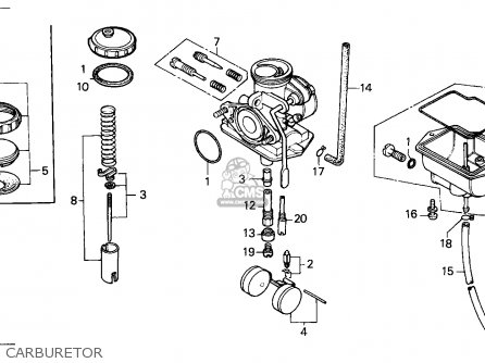Honda Xr80r 1986 Canada / Cmf parts list partsmanual