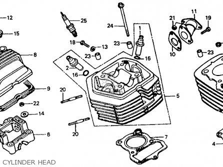 Honda Xr80r 1986 Usa parts list partsmanual partsfiche