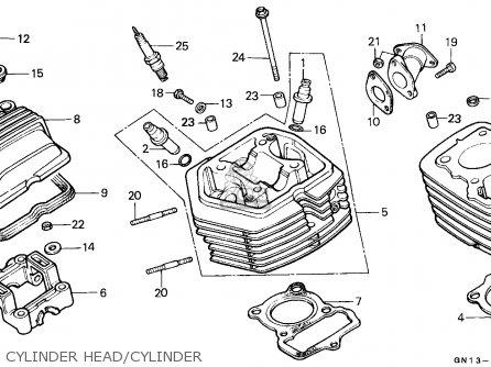 Honda Xr80r 1987 Australia parts list partsmanual partsfiche