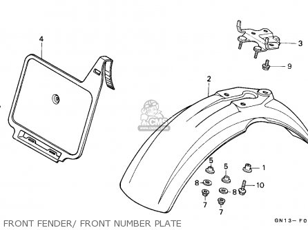 Honda Xr80r 1987 Australia parts list partsmanual partsfiche