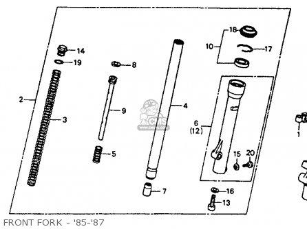Honda Xr80r 1987 Usa parts list partsmanual partsfiche