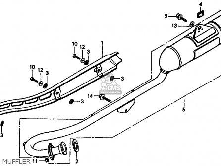 Honda Xr80r 1990 Usa parts list partsmanual partsfiche