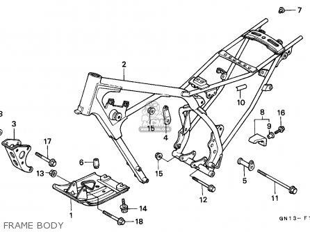 Honda Xr80r 1992 Mexico parts list partsmanual partsfiche