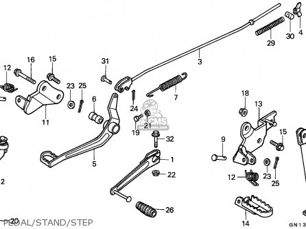 Honda Xr80r 1993 (p) Mexico parts list partsmanual partsfiche